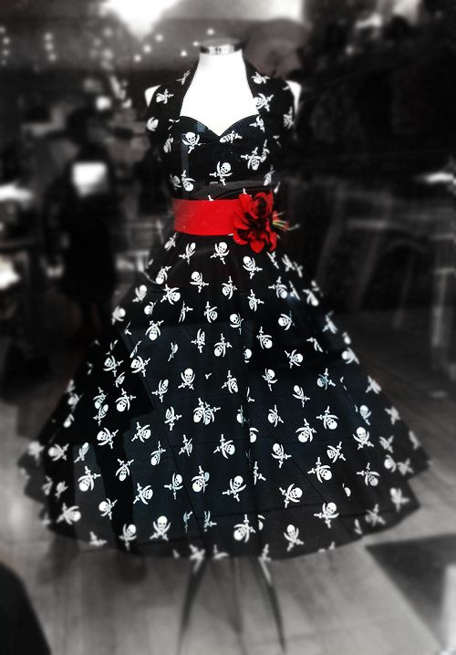 Skull dress. I don't hardly ever wear dresses or skirts but I would totally rock this!!!