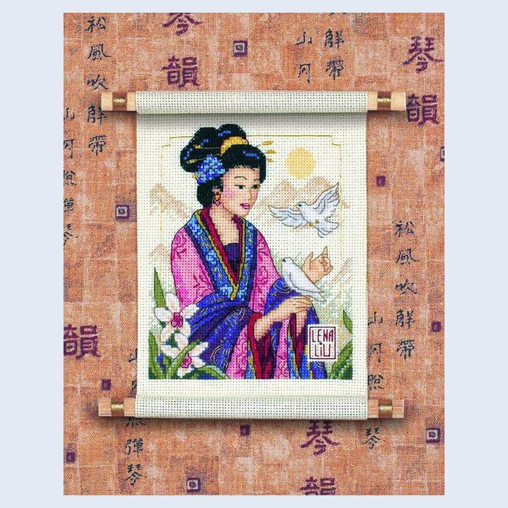 asian cross stitch kits