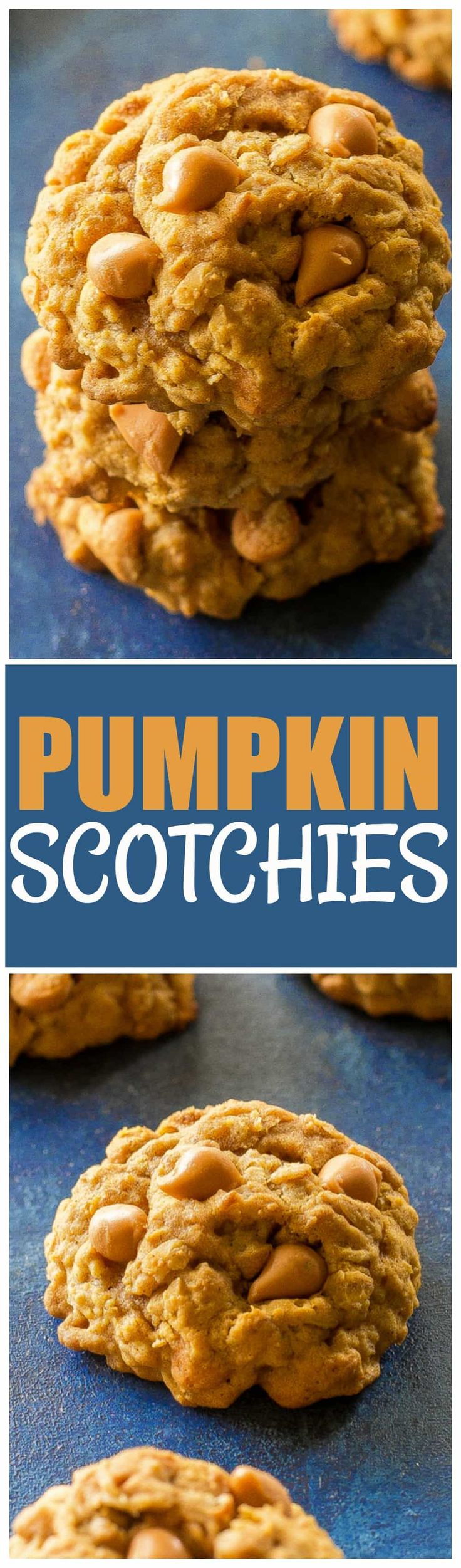 These Pumpkin Scotchies are a twist on your classic oatmeal butterscotch  cookies. Full of fall
