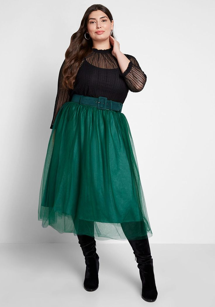 ModCloth x Collectif I'm Ready Tulle ALine Skirt Full