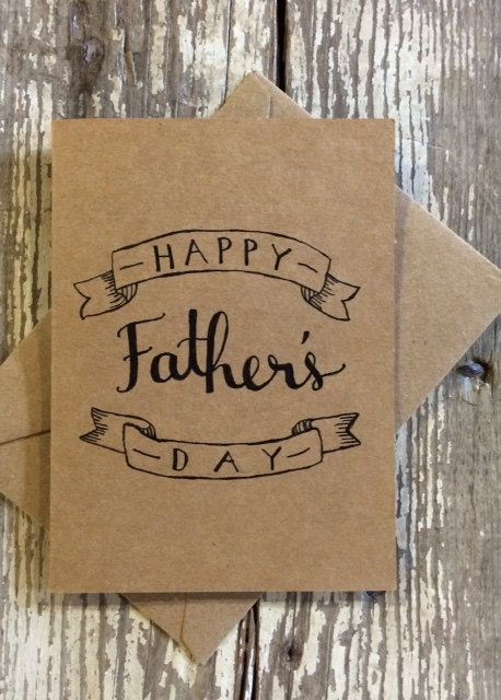 Hand-lettered Father's Day Card by hiloytinta on Etsy