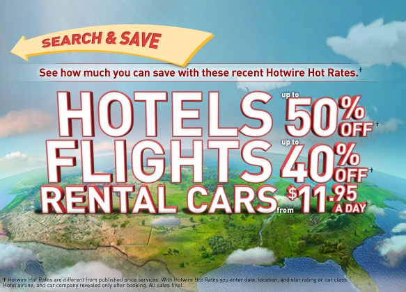 Second favorite discount travel site.  Yes, it's blind, but it's a worthy backup when Priceline isn't cutting it.  I highly recommend visiting http://betterbidding.com when you are using Hotwire, lots of great tips and helpful info on how to best use the site to your advantage.