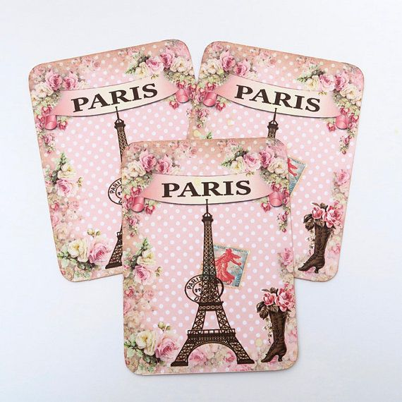 Blank Paris Note Cards Eiffel Tower Note by EnchantedQuilling