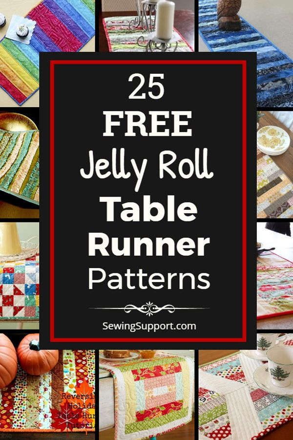 jelly roll table runner patterns
