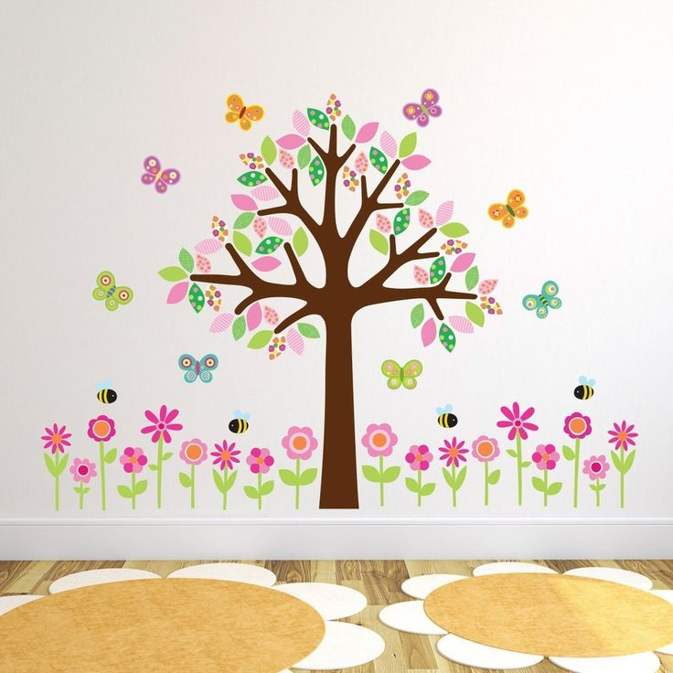 Tree With Pink Flowers Wall Sticker