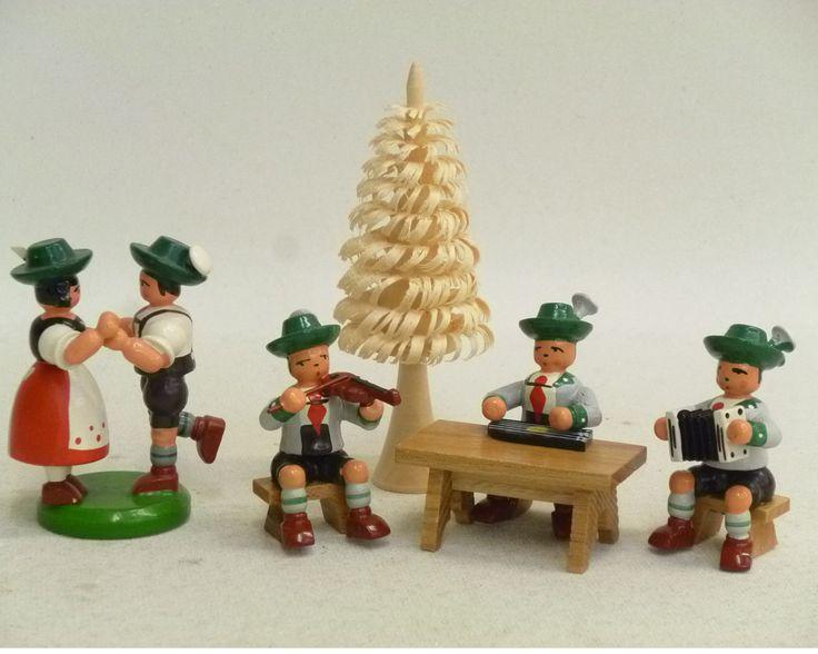 Bayr.Tanzpaar u. Bayr. Schrammeltrio Orig. Holz Handwerkskunst a.d. Erzgebirge | eBay