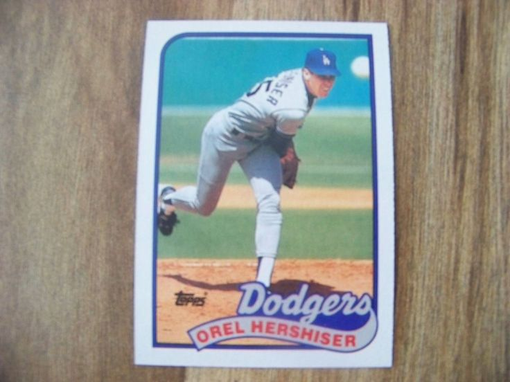 1989 Topps Orel Hershiser BB Card Los Angeles Dodgers 1988 Season #550 - Vintage #LosAngelesDodgers