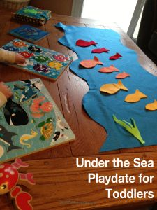 Sea inspired fish playdate activity for toddlers