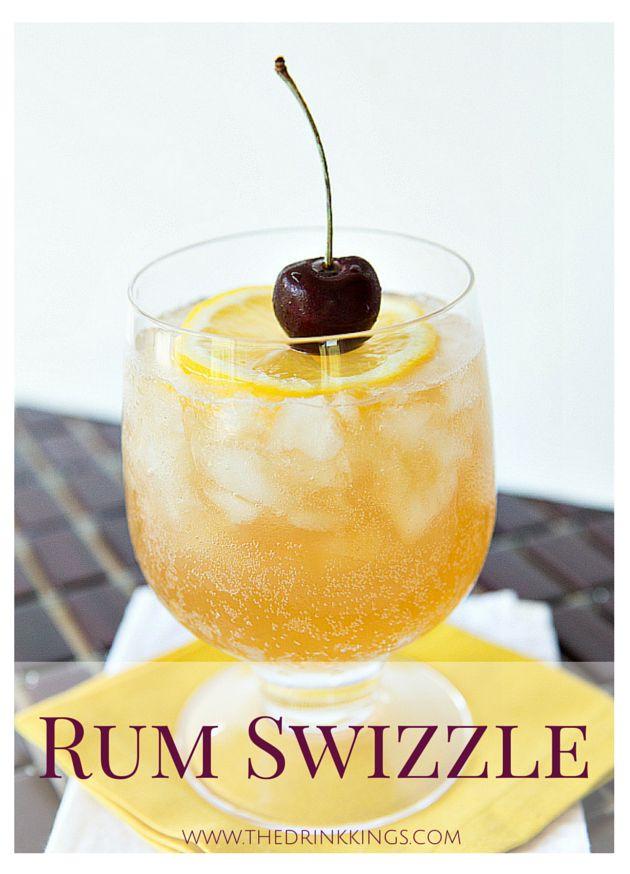 Rum Swizzle | Dark rum, triple sec, lemon juice and ginger beer! | www.thedrinkkings.com