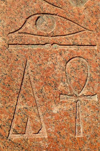 Hieroglyphs of Hatshepsut Temple in Egypt