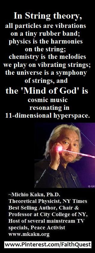 Celebs on Faith - Michio Kaku  Follow @FaithQuest