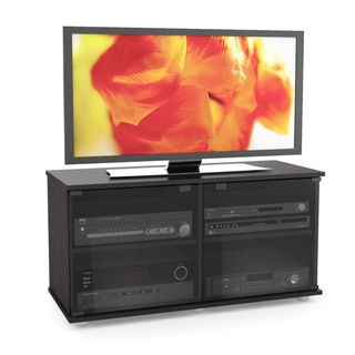 @Overstock - The Fiji Collection entertainment center from Sonax is a striking 40-inch television and component stand. A beautiful compliment to a wall mounted or sitting TV, this stand is the ideal combination of open and concealed storage space.http://www.overstock.com/Home-Garden/Sonax-Fiji-Wood-Ravenwood-Black-46-inch-Entertainment-Center/7324567/product.html?CID=214117 $139.99
