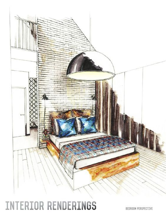 1305 best images about interior perspective drawings on - Interior design portfolio presentation ...
