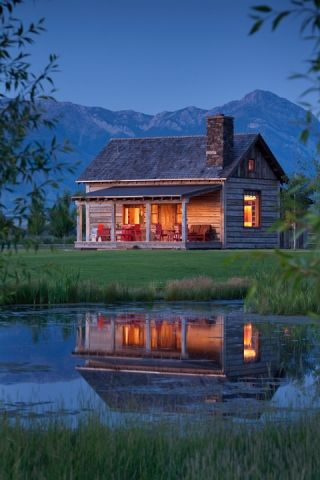 tiny cabin by the water