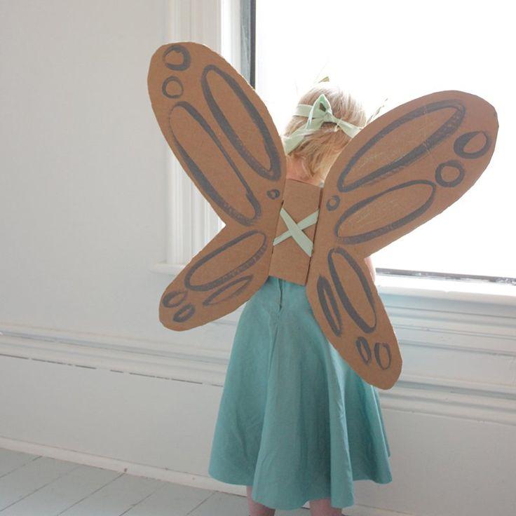 Des ailes en carton - DIY butterfly wings - Marie Claire Idées