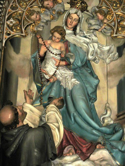 Saint Dominic And The Rosary | Our Lady of the Rosary and St Dominic.