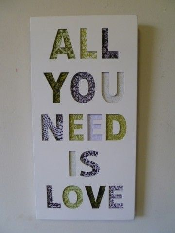"Clayre & Eef tekstbord ""All you need is love"""