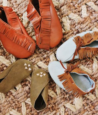 DIY Leather Moccasins for Baby