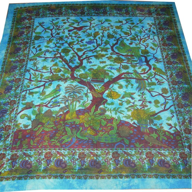 Tree Of Life Hippy Wall Hanging Tapestry Throw Bed Etchnic
