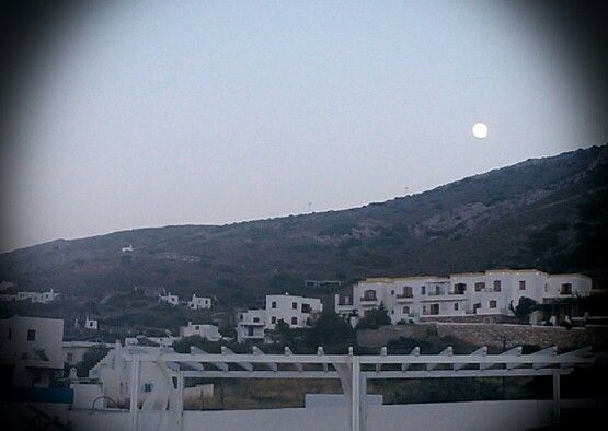 Upcoming fullmoon from pino di loto owns it's place on our view...