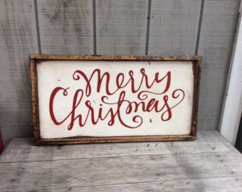 Christmas Sign Merry Christmas vinyl sign on by huckleberrylady