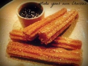 Make Churros Using Bisquick #Recipe Vegetable oil 4 tablespoons sugar 2 teaspoons ground cinnamon 3 1/4 cups Original Bisquick® mix 1 cup hot water