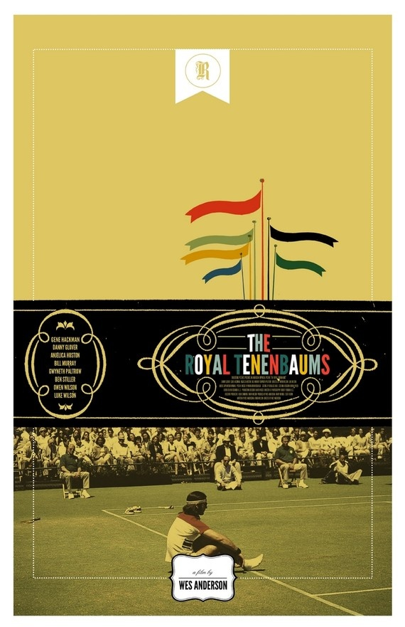 TRT: Movie Posters, Wes Anderson, Movies, The Royal Tenenbaums, Wesanderson, Posters Design, Royaltenenbaum, Adam Juresko, The Royals Tenenbaums