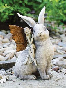 Rabbit and Fairy:  Yes, there are fairies in the garden and woodland, but they're very clever at hiding from people. A friendly rabbit offers a ride to a wee garden fairy - but wait? Did someone see them? A rare glimpse of magical fun!