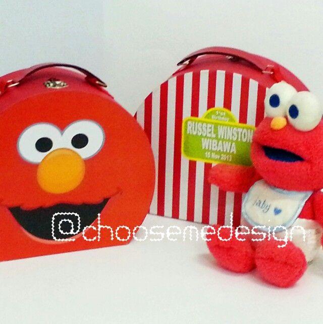 Elmo birthday box by Choose me