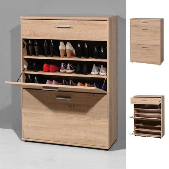 Available by End of January 2017 • Shoe cabinet, shoe storage with one drawer & 2 shoe compartments • Stunning shoe storage solution in a Canadian Oak finish • Can Hold...