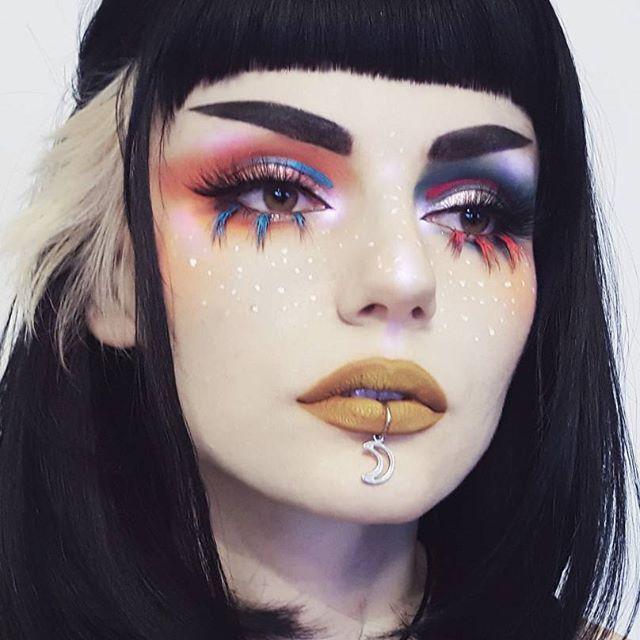 Inspired by many... LIPS @blackmooncosmetics • Cider liquid to matte lipstick EYES @livingdeadbeauty • Bold matte eyeshadow palette @katvondbeauty • Dreamer everlasting liquid lipstick • Absolution and Rapture from Saint and Sinner palette • Amethyst and Opal from Alchemist palette @anastasiabeverlyhills • Carina and Spicy liquid lipsticks @nablacosmetics • Selfish single eyeshadow @eyeko • Black Magic Eyeliner @rouge.and.rogue • Luminara lashes BROWS @katvondbeauty • Devotion from Better…