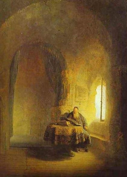 Рембрандт. Размышляющий философ (1631, Париж, Лувр).