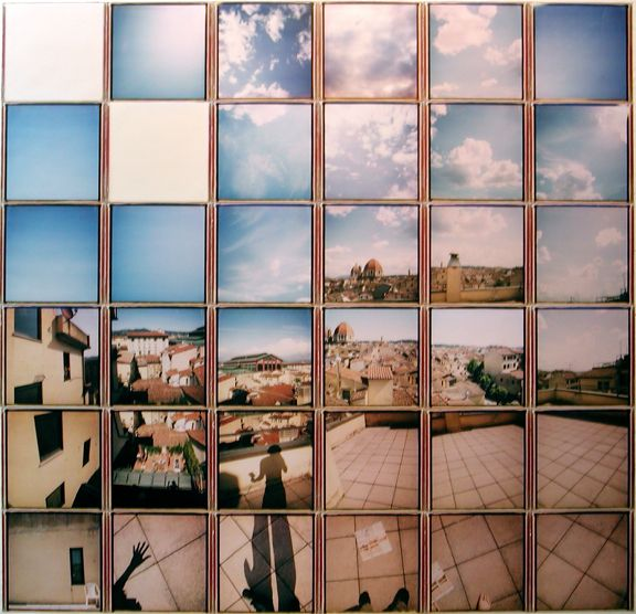 David Hockney polaroid mosaic
