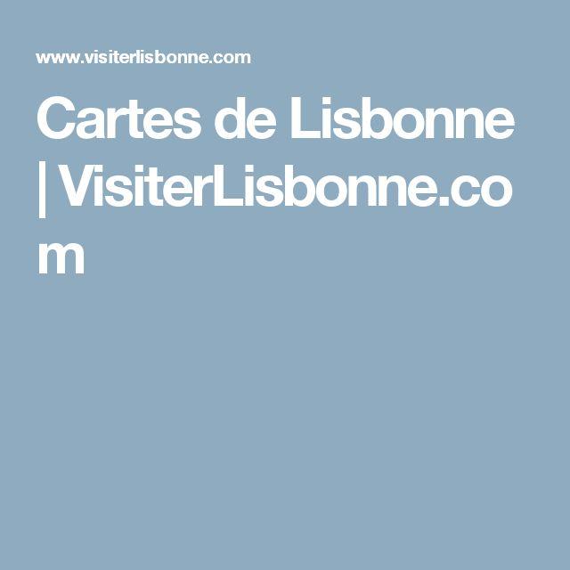 Cartes de Lisbonne   VisiterLisbonne.com
