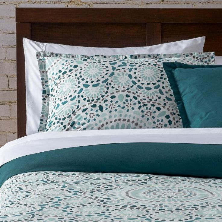 City Scene Selena Teal Duvet Cover & Sham Set