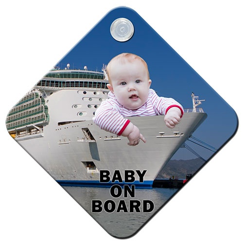 "We're all familiar with the yellow diamond-shaped signs  dangling on the back car window. Now it's time to make it your own!  21st Century is looking for your ideas on how to recreate the ""Baby on  Board"" sign!"
