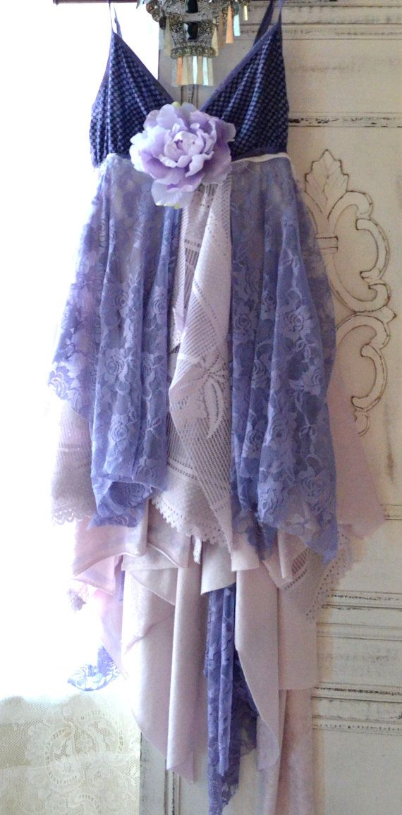 Cottage dress, country chic dress, Boho chic dresses, Bohemian dress, party dress, for the Holidays, Gypsy glam clothes, lilac,True rebel