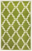 Homespun Trellis Green Rug | Contemporary Rugs