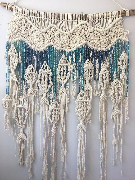 Macrame Fish Wall Hanging Customizable Macrame Tapestry