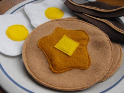 It will be fun to make felt food when Ava starts playing with her kitchen
