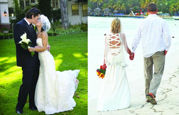 Real Brides from Le Salon Bridal! Left: Antoinette Birdcage Right: Ambrosia Veil