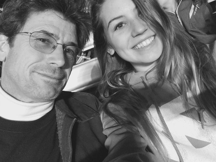 My dad and me at a UNC game