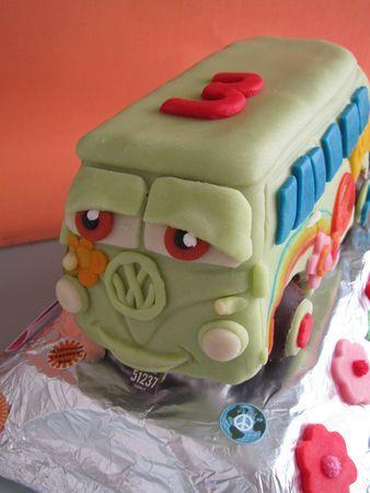 Gâteau Fillmore, le van VW dans Cars - Du bruit dans la MAP