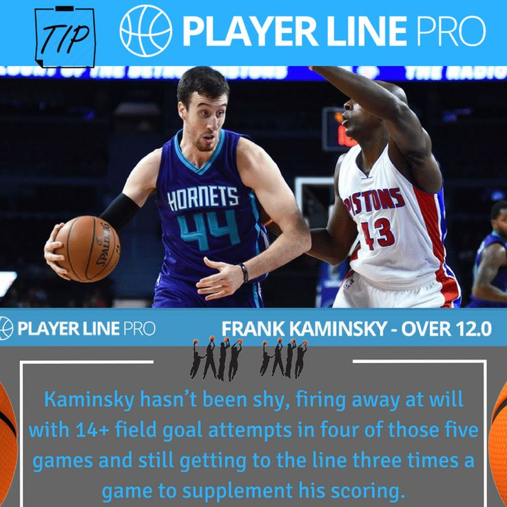 Frank the Tank Kaminsky has taken full advantage and has stepped up in a big way. Kaminsky has averaged 16.0ppg over the past five games, despite playing only 29mpg due to two blowout losses. For more information visit https://playerlinepro.com/ #NBAdailypicks #NBAdailytips #FrankKaminsky #PlayerLinePro #playerline