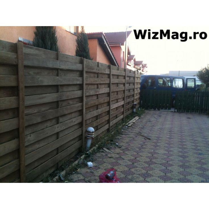 Gard lemn Campu lung