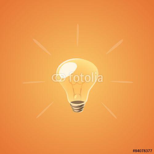 Wektor: Brilliant idea bulb. Isolated object \ background.