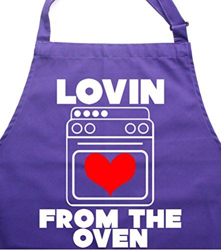 LOVIN FROM THE OVEN' Purple Apron