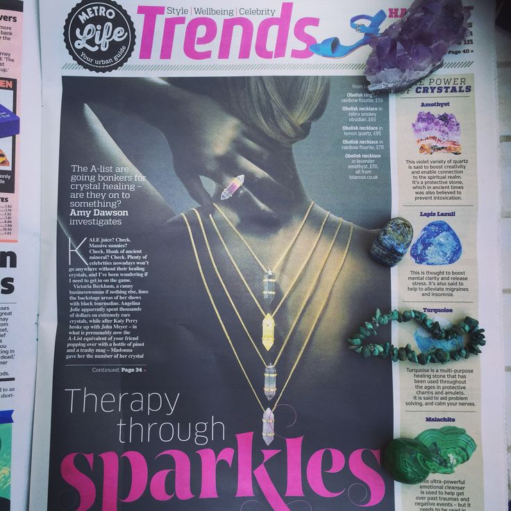 Today's Metro ~ Trends - Crystals