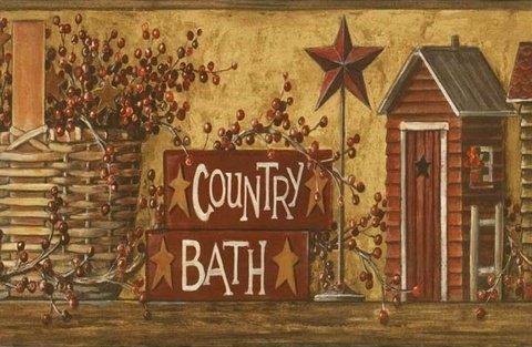 17 Best Images About Folk Heart Ii Wallpaper On Pinterest Country Bathrooms Wallpaper Borders