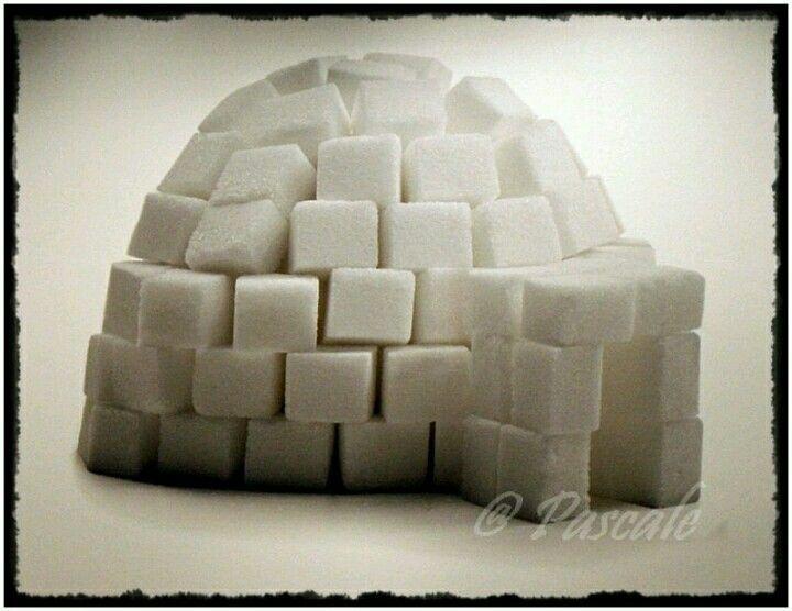 Een iglo van suikerklonten